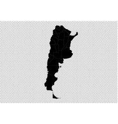 argentina map - high detailed black map with vector image