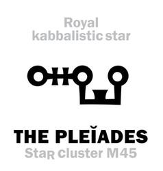Astrology the pleiades the royal behenian vector