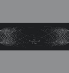 attraction of life connecting particle vector image