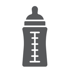 baby bottle glyph icon feed and milk vector image
