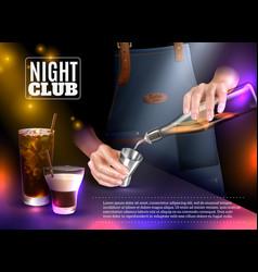 bartender realistic vector image