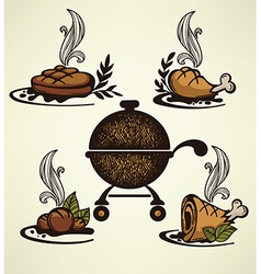 Bbq collection vector