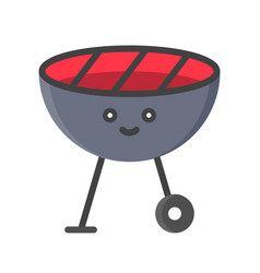 Bbq grill isolated spring season flat icon vector
