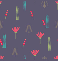 Beautiful floral background seamless pattern vector
