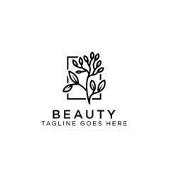 beauty logo design inspiration vector image