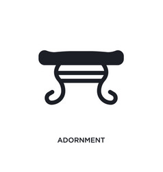 Black adornment isolated icon simple element from vector