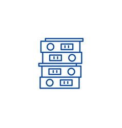Business archive line icon concept business vector
