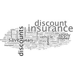 Car insurance discounts vector