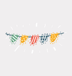 carnival garland with flags vector image