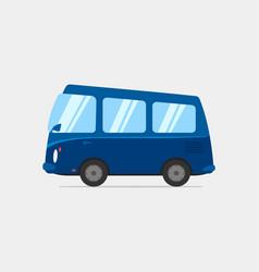 cartoon blue van vector image