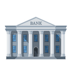 Cartoon retro bank building or courthouse with vector