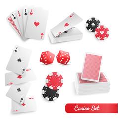 casino poker realistic set vector image