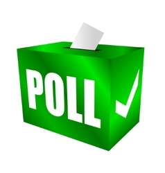 Cast your vote Poll box for votes vector image