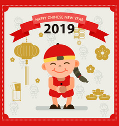 Chinese new year design elements card vector