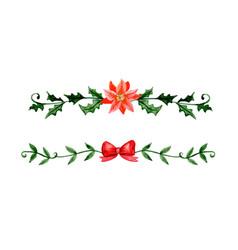 christmas decoration watercolor vector image