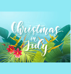 Christmas in july sale design with tropical royal vector