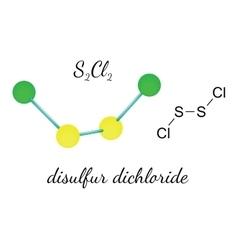Cl2S2 disulfur dichloride molecule vector image