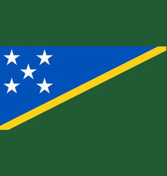 Colored flag of the solomon islands vector