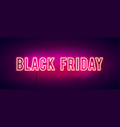 colorful retro black friday neon light banner vector image