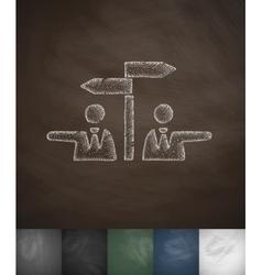 controversy icon Hand drawn vector image