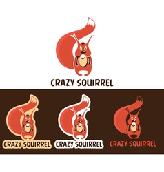 Crazy Squirrel Cartoon Character vector