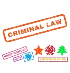 Criminal Law Rubber Stamp vector
