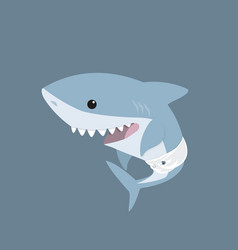 cute cartoon baby shark vector image