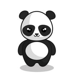 Cute panda kawaii style vector