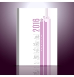 Design template for annual report Design with vector image vector image