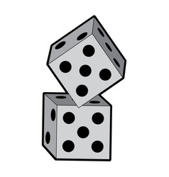 dice game icon image vector image