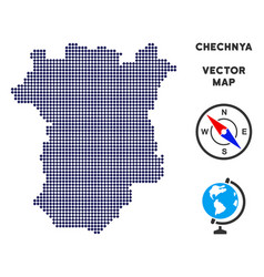 Dotted chechnya map vector