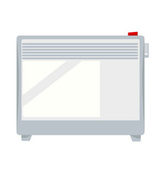 Electric ajustable white heater on knuckles vector
