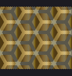 elegant modern creative geometry background gold vector image