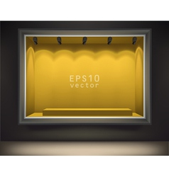 Empty front display vector image