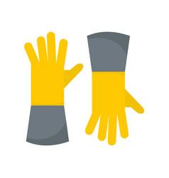 Farm gloves icon flat style vector