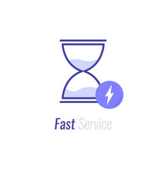 Fast time delivery icon timely service deadline vector