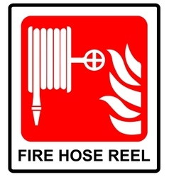 Fire hose reel sign vector
