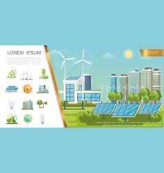 flat eco city concept vector image