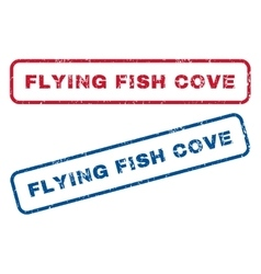 Flying Fish Cove Rubber Stamps vector