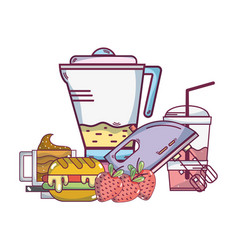 Food and kitchen appliance vector