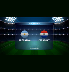 football scoreboard broadcast graphic vector image