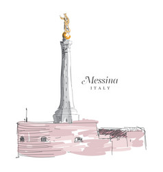 freehand digital drawing of messina italy vector image