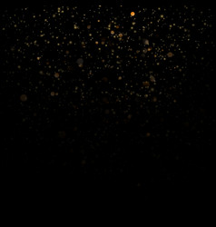 Glitter particles overlay effect gold glittering vector