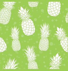 Green pineapples summer colorful tropical vector