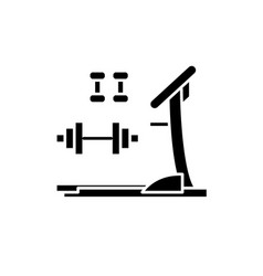gym training black icon sign on isolated vector image