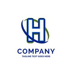 h company name design logo template brand name vector image