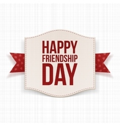 Happy Friendship Day festive Poster vector