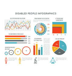 Healthcare and disability infographic with vector