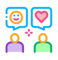 Human lovely talk icon outline vector