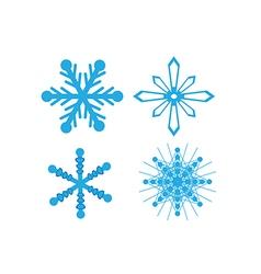 Icons snowflake vector